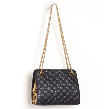 Chico's Women's Quilted Studded Shoulder Bag