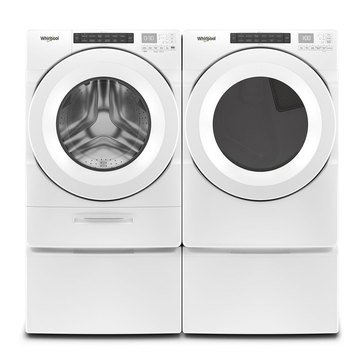 Whirlpool Front Load Washer/Electric Dryer Bundle with Pedestals (WFWE5620HWPED)