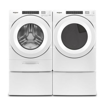 Whirlpool Front Load Washer/Gas Dryer Bundle with Pedestals (WFWG5620HWPED)