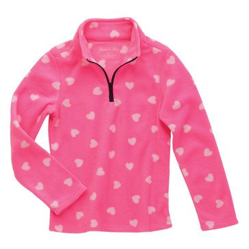 Yarn & Sea Little Girl's Printed Microfleece Jacket