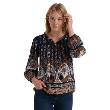 Lucky Brand Women's Laura Lace Peasant Top