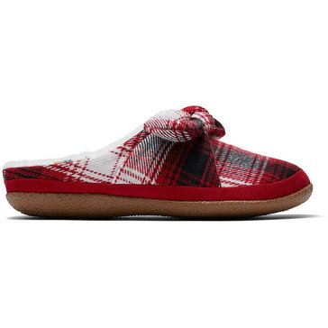 Toms Women's Ivy Plaid Bow Slipper