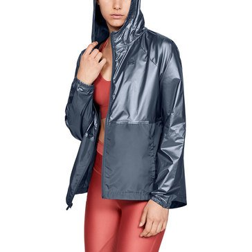 Under Armour Women's Metallic Woven Full Zip