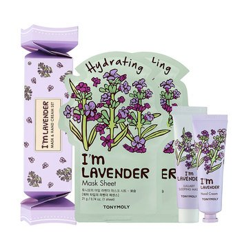 TONYMOLY Lavender Cracker Box Mask and Hand Cream Set