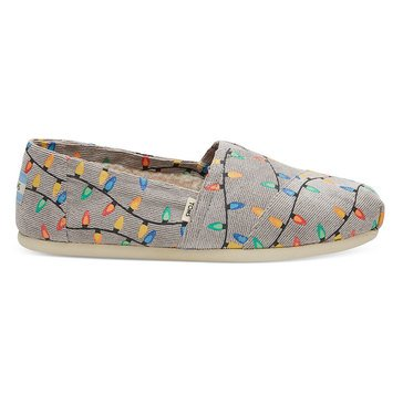 Toms Women's Alpergata Christmas Tree Lights Slip On