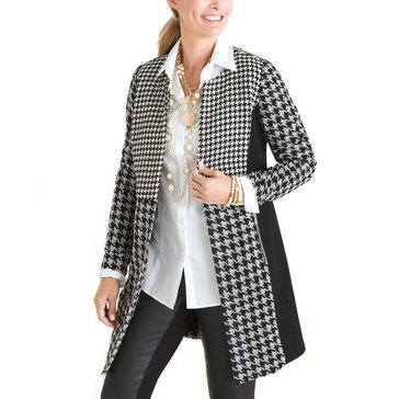 Chico's Women's Houndstooth Patch Jacket