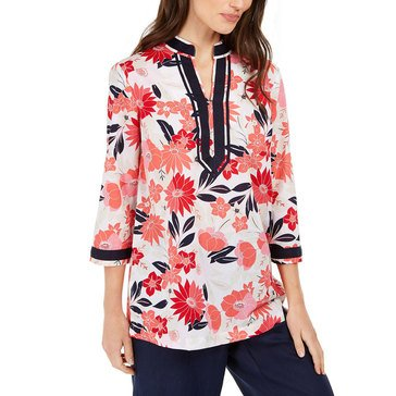 Charter Club Women's Rayon Floral Tunic