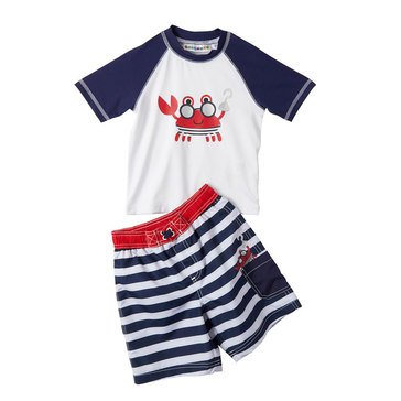 Wippette Baby Boys' Sea Life 2-Piece Crab Rash Guard Set
