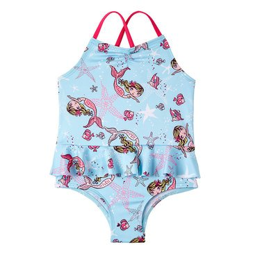 Wippette Baby Girls' 1-Piece Mermaid Swimsuit