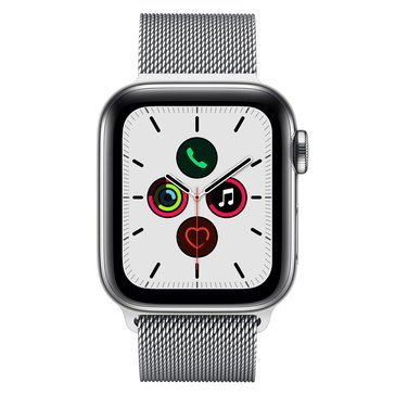 Apple Watch Series 5 (GPS & Cellular) Stainless Steel With Sport Band And AppleCare + Bundle