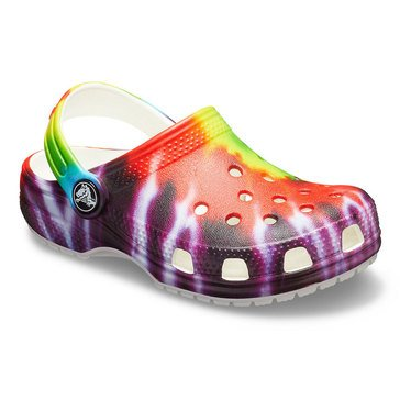 Crocs Unisex Tie Dye Graphic Clog (Toddler/Little Kids)
