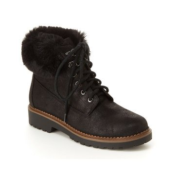 Esprit Women's Chelsea Hiker Fur Trim Boot