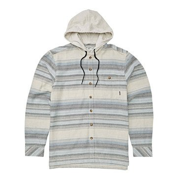Billabong Men's Baja Striped Flannel Hoodie