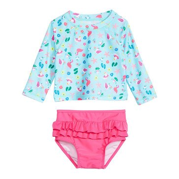 First Impressions Baby Girls' Swim Seagull Rashguard Set