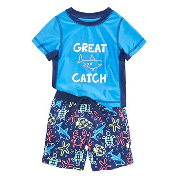 First Impressions Baby Boys' Swim Great Catch Swim Set