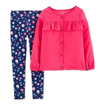 Carters Little Girls' 2-Piece Floral Printed Leggings Set