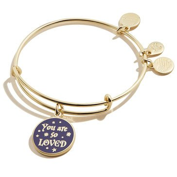 Alex and Ani Harry Potter You are So Loved Bangle, Gold Finish