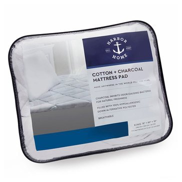 Harbor Home Charcoal Infused Mattress Pad