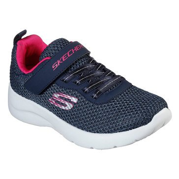 Skechers Kids Girls'  Dynamite Gore and Strap Sneaker