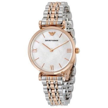 Emporio Armani Two-Tone Stainless Steel Classic Dress Watch 32mm