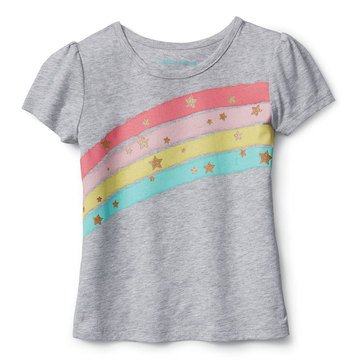 Liberty & Valor Little Girls' Rainbow Screen Tee
