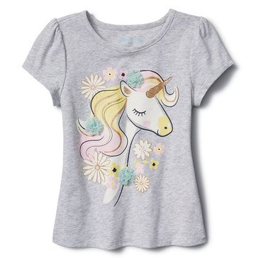 Liberty & Valor Little Girls' Unicorn Screen Tee