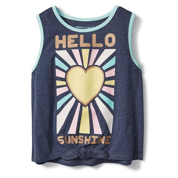 Liberty & Valor Little Girls' Sunshine Tie Tank