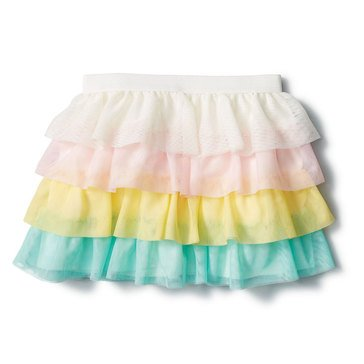 Liberty & Valor Little Girls' Tiered Tulle Skirt