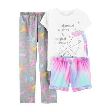 Carters Little Girls' 3-Piece Unicorn Stardust Sleep Set