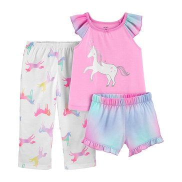 Carters Toddler Girls' 3-Piece Unicorn Sleep Set