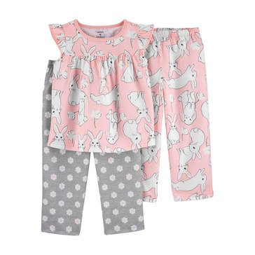Carters Toddler Girls' 3-Piece Bunny Sleep Set
