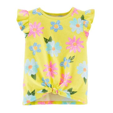 Carters Toddler SL Front Knot Floral Tank