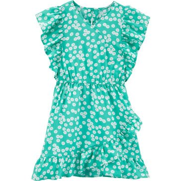 Carters Little SL Ruffl Detail Daisy Print Dress