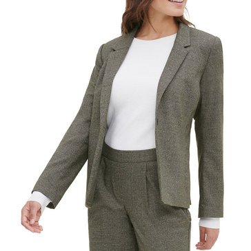 Kensie Women's Tweed Plaid Blazer