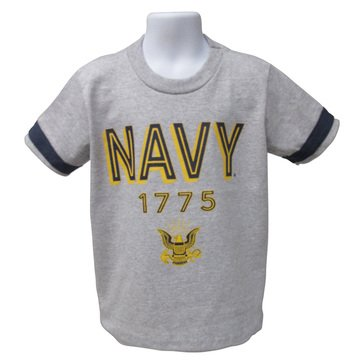 Third Street Youth Boys' USN 1775 With Eagle Single Striped Tee