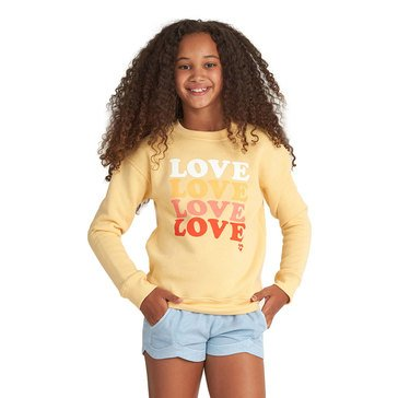 Billabong Big Girls' So Much Love Crew Sweatshirt