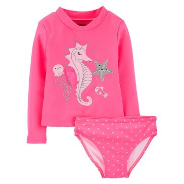 Carter's Baby Girls' Rashguard 2-Piece Set