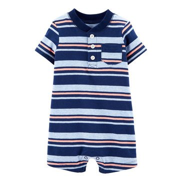 Carter's Baby Boys' Striped Henley Romper