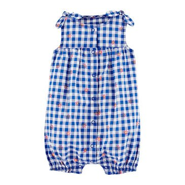 Carter's Baby Girls' Gingham Romper