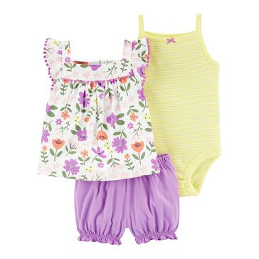 Carters Baby Girls' Floral Diaper Cover 3-Piece Set