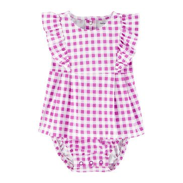 Carters Baby Girls' Gingham Sunsuit
