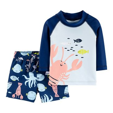 Carter's Baby Boys' 2-Piece Sea Life Rash Guard Set