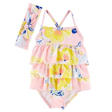 Carter's Baby Girls' 2-Piece Floral Swimsuit