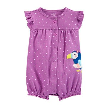 Carters Baby Girls' Parrot Snap Up Rompers