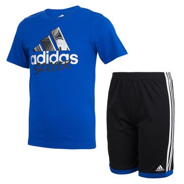 Adidas Baby Boys' Graphic Cotton Shorts Set