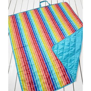 Martha Stewart Collection Beach Blanket Rainbow Stripe Towel