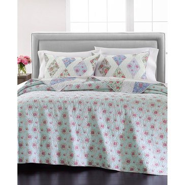 Martha Stewart Collection Diamond Floral Patch Quilt