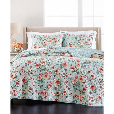 Martha Stewart Collection Watercolor Floral Quilt