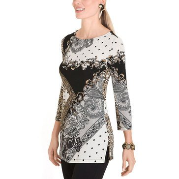 Chico's Women's Travelers Status Printed Tunic