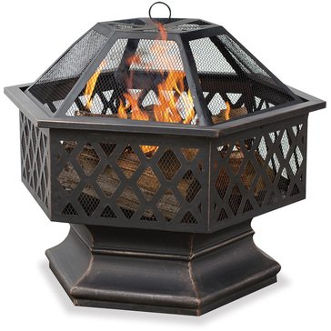 Endless Summer Hexagon Wood Fire Pit